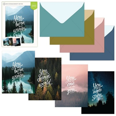 16ct Assorted Encouragement Note Cards Inspired Scenery