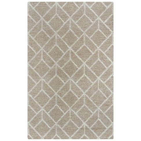 Avondale Geometric Wool Area Rug - Rizzy Home - image 1 of 4