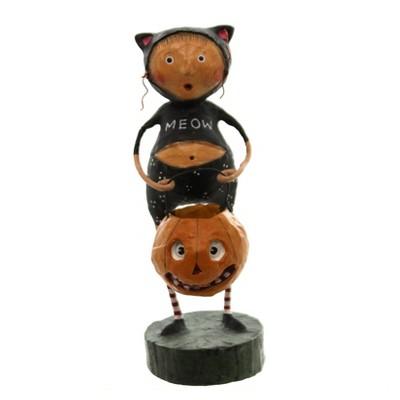 """Lori Mitchell 5.5"""" Fraidy Cat Pumpkin Treat  -  Decorative Figurines"""