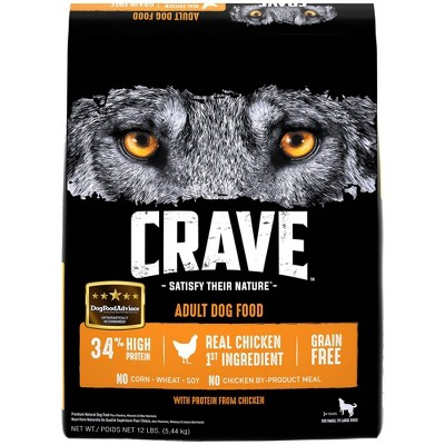 Crave Grain Free High Protein with Protein From Chicken Adult Premium Dry Dog Food