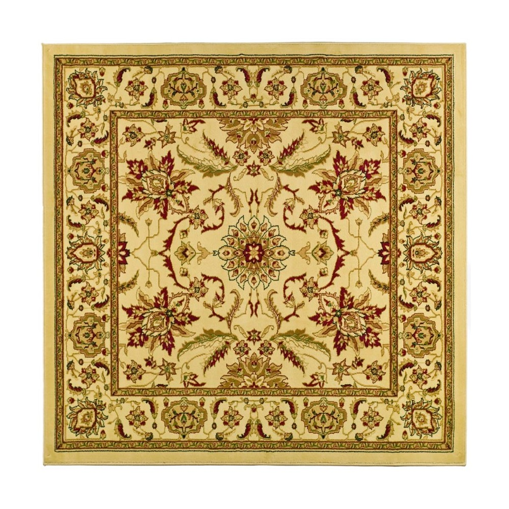 8'X8' Loomed Floral Square Area Rug Ivory - Safavieh