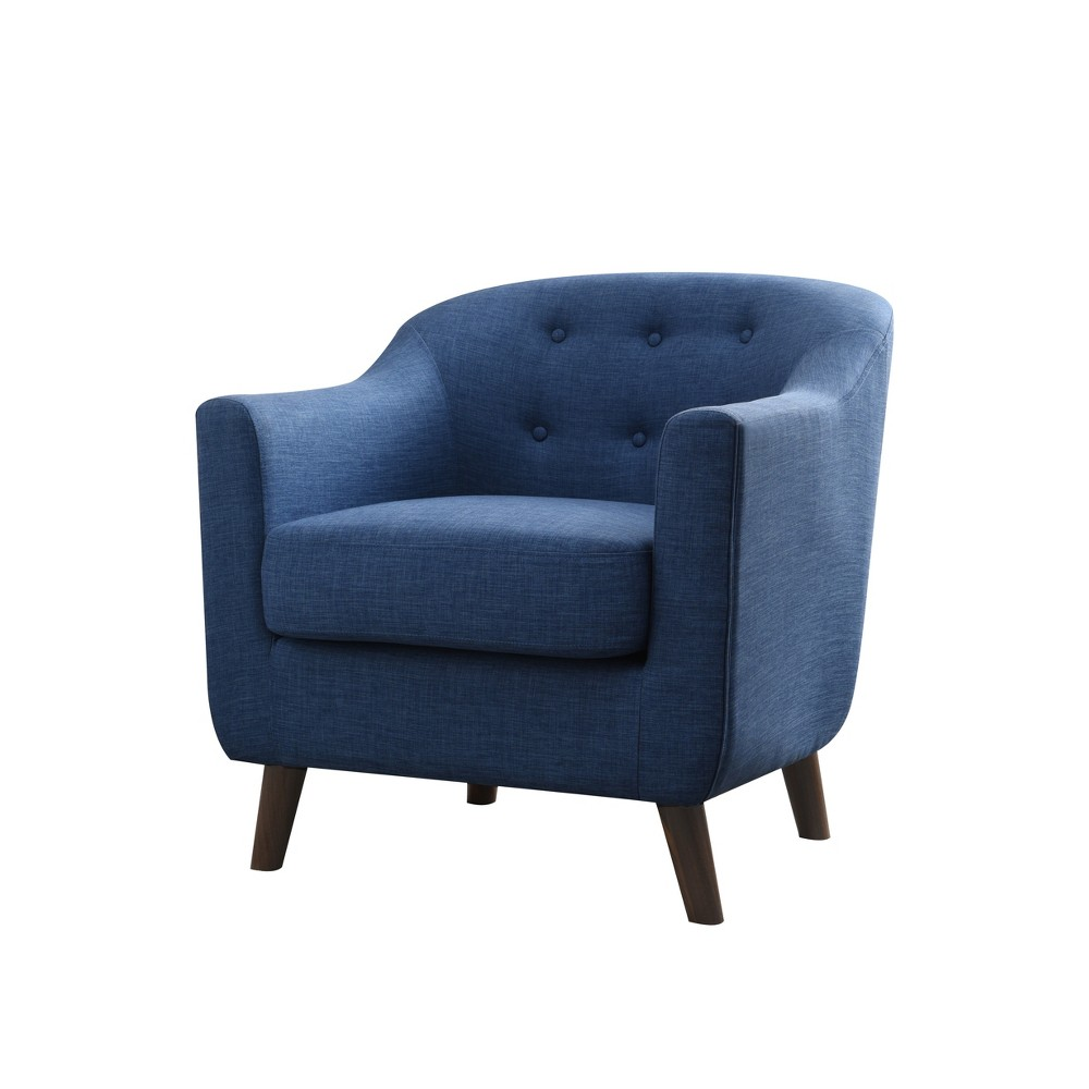 Belka Tufted Upholstered Accent Chair Blue Overalls - miBasics