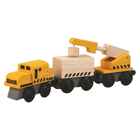 PlanToys® Plancity Push And Pull Crane Train - image 1 of 1