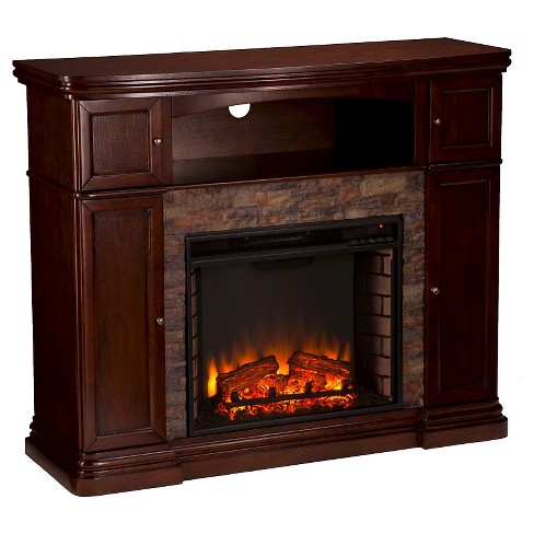 "48"" Decorative Fireplace - Coffee - Aiden Lane - image 1 of 3"