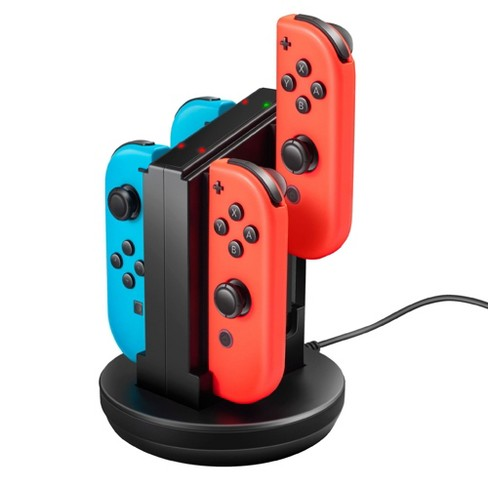 Insten For Nintendo Switch Joycon Controller Charging Dock Station Joy-con Charger Stand, Black - image 1 of 4