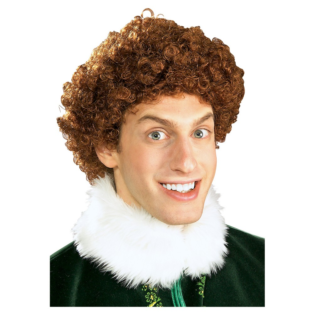Buddy The Elf Costume Wig Brown - One Size Fits Most, Men's, Red