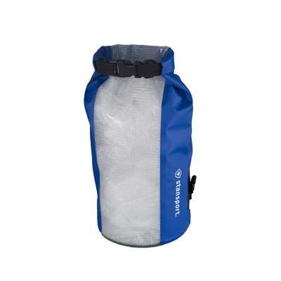 Stansport Waterproof Dry Gear Bag With Clear Front Panel 10L Blue