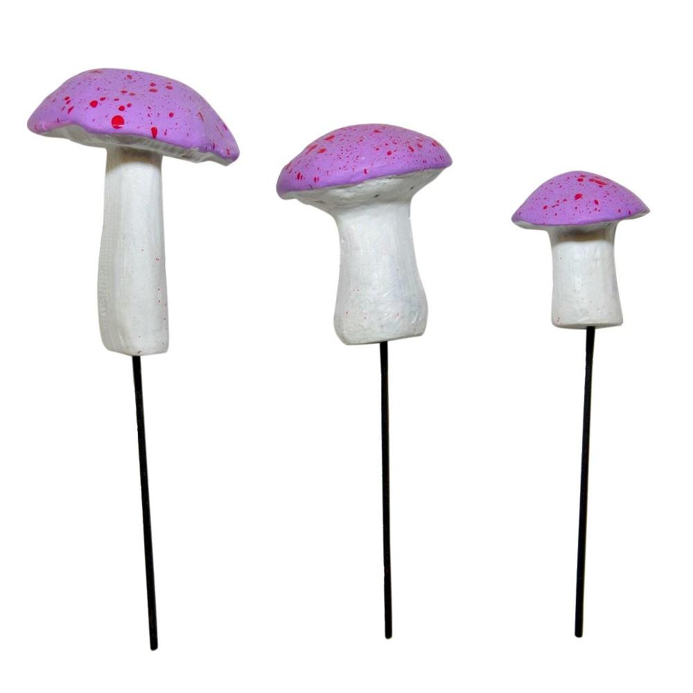 "Image of ""0.5-1.25"""" - Stone Fairy Garden Miniature Mushroom Set, Purple - MiniGardenn"""