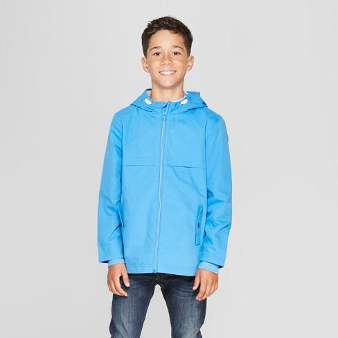 Boys' Long Sleeve Anorak Jacket - Cat & Jack™ Blue - image 1 of 3