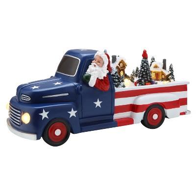 "Mr. Christmas Animated Patriotic Truck Musical Christmas decoration - 10.5"" long"