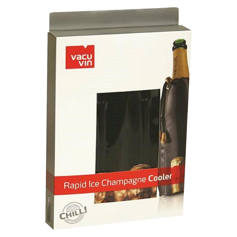 Vacu Vin Rapid Ice Champange Cooler, Black