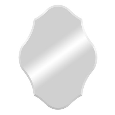 15 x20  Royal Scalloped Edge Frameless Decorative Wall Mirror Silver - Patton Wall Decor