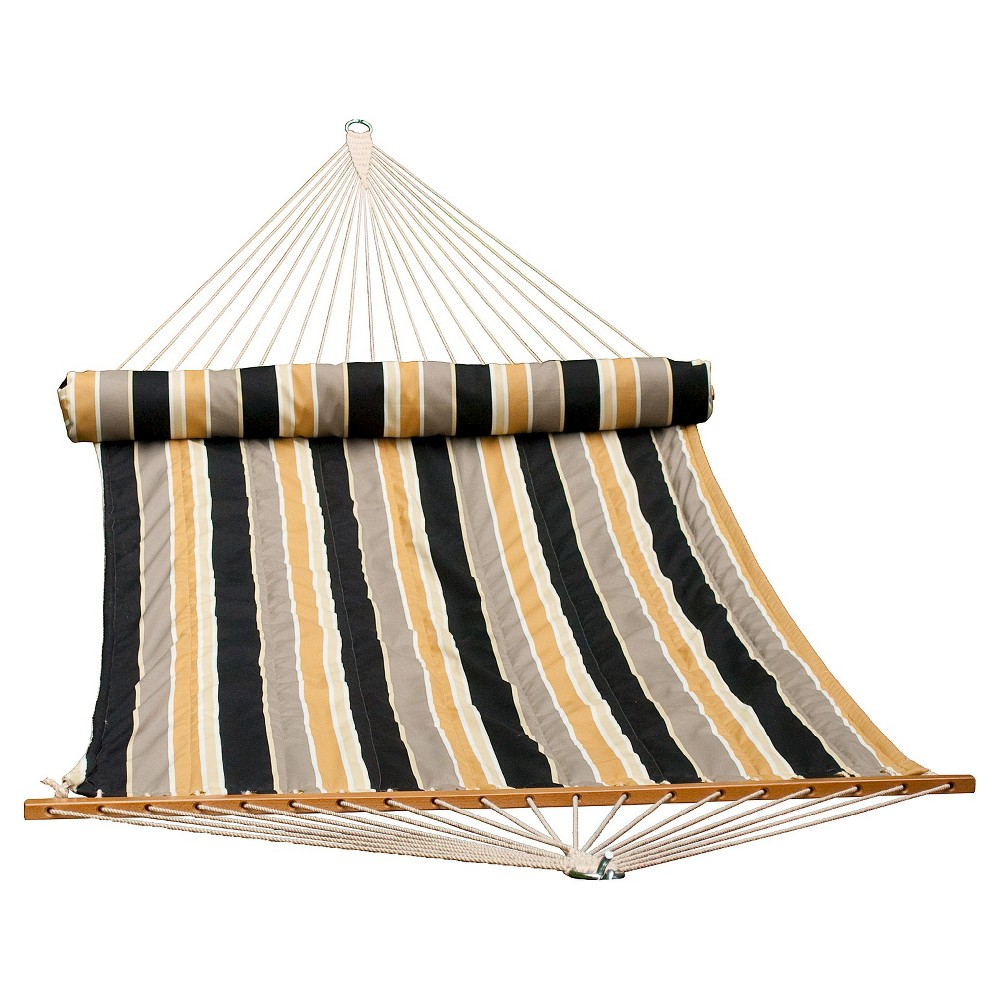 Image of 13 Foot Quilted Hammock with Stripe - Brown