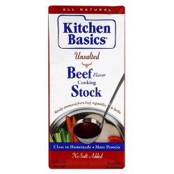 Kitchen Basics Unsalted Beef Broth 32 oz