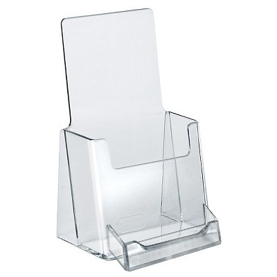 Azar Trifold Brochure Holder With Business Card Pocket 10ct