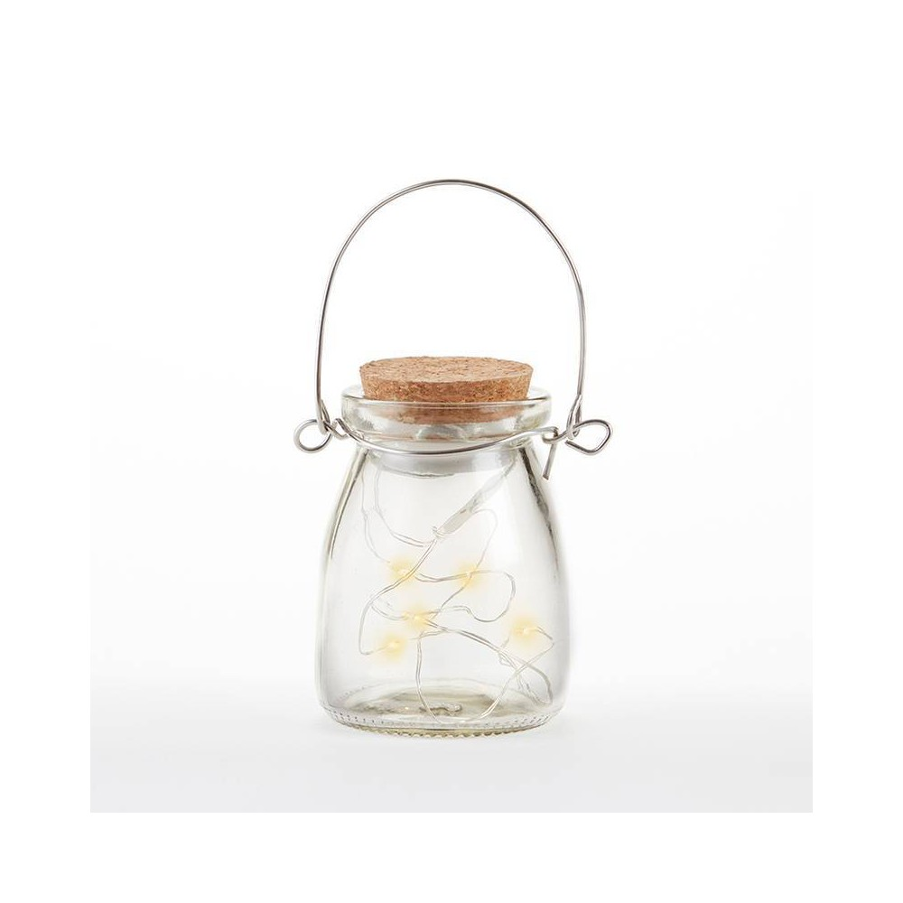 4ct Hanging Jar With Fairy Lights - Kate Aspen, Clear