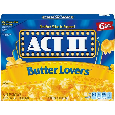 Act II Butter Lovers Popcorn - 6ct