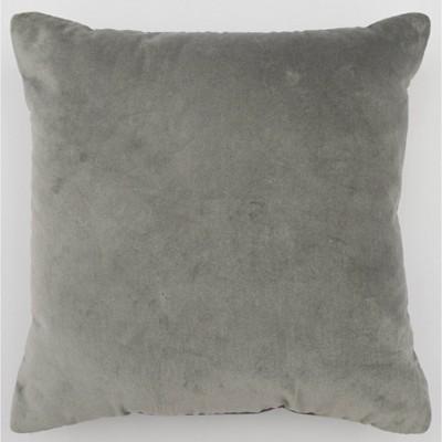 Square Velvet Pillow Dark Gray - Room Essentials™