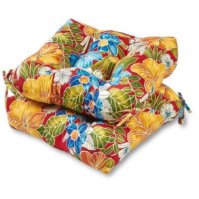 Set of 2 Aloha Floral Outdoor Seat Cushions - Kensington Garden