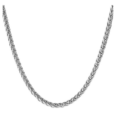Men's West Coast Jewelry Stainless Steel Spiga Chain Necklace