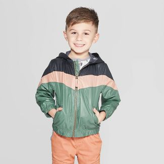 Genuine Kids® from Oshkosh Toddler Boys' Color-block Windbreaker Jacket - Green 4T