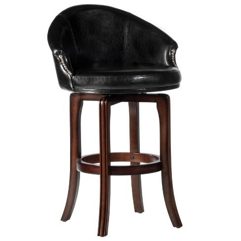 "30"" Dartford Swivel Barstool Brown/Black - Hillsdale Furniture - image 1 of 4"