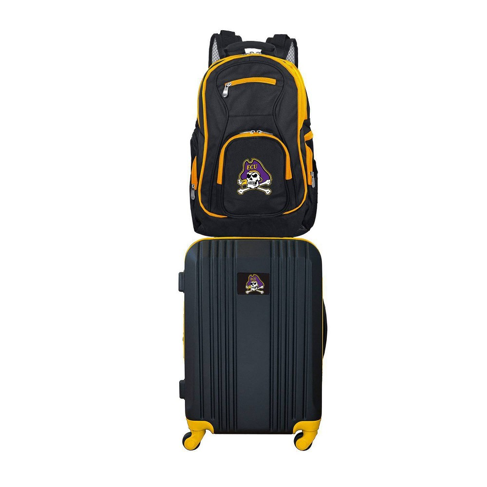 NCAA East Carolina Pirates Premium 2pc Backpack & Carry-On Luggage Set