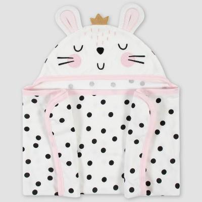 Gerber Baby Girls' Bunny Hooded Bath Towel - Cream