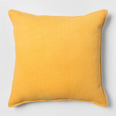 Yellow Chambray Oversize Square Throw Pillow - Threshold™