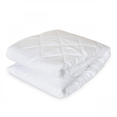 Downlite Dorm Mattress Protector Pad & Cover - Twin XL White