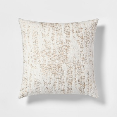 Woven Chenille Oversize Square Throw Pillow Cream - Project 62™