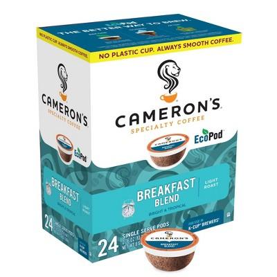 Cameron's Breakfast Blend Light Roast Coffee Pods - 24ct