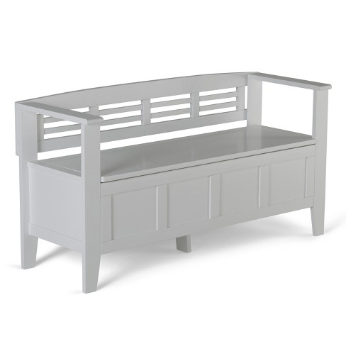 Adams Entryway Storage Bench - White - Simpli Home - image 1 of 8