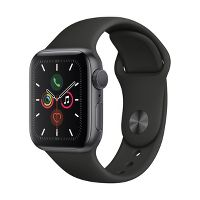 Deals on Apple Watch Series 5 GPS w/Black Sport Band 44mm