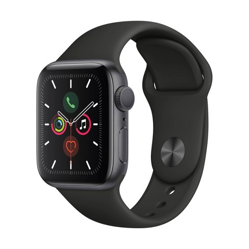 Apple Watch Series 5 GPS, 44mm Space Gray Aluminum Case with Black Sport Band - image 1 of 2