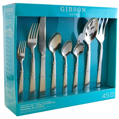 Gibson Prato 45 Piece Flatware Set