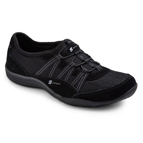 Women s S Sport By Skechers Relax d Slip On Athletic Shoes - Black ... 4004593e727