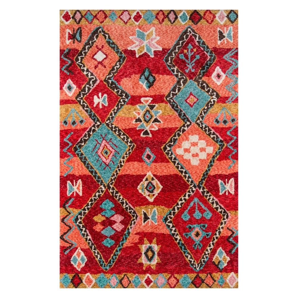 9'X12' Shapes Tufted Area Rug Red - Momeni, Blue Red Orange