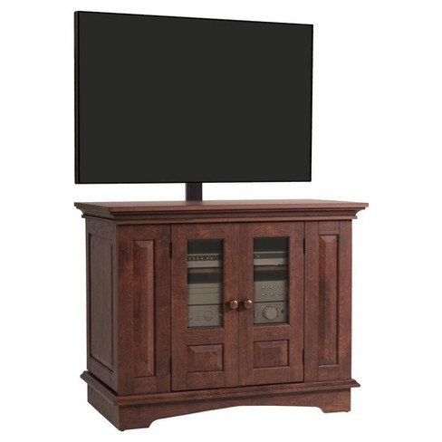 Willow Mountain 37 Tv Console With Mount Coach Cherry Ameriwood
