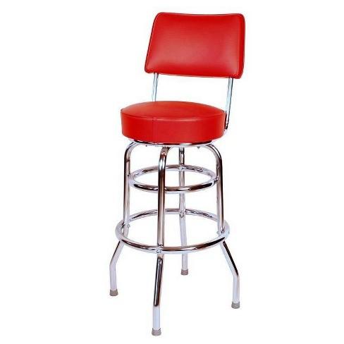 """30"""" Floridian Swivel Bar Stool Red - Richardson Seating - image 1 of 1"""