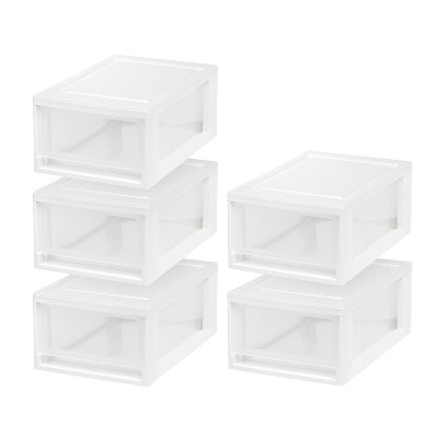 IRIS 5pk Small Stacking Storage Drawer