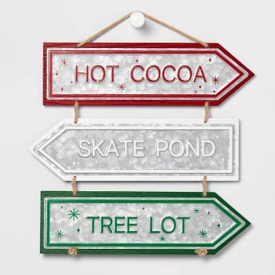 Hot Cocoa - Skate Pond - Tree Lot Decorative Sign - Wondershop™