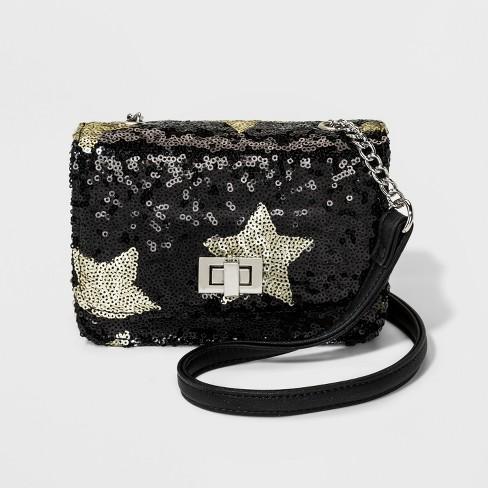 8e0eb5eb6f Girls  Sequin Star Crossbody Bag - Art Class™ Black   Target