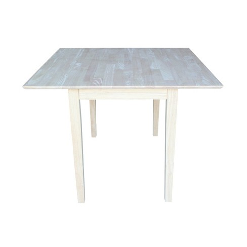 Dual Drop Leaf Square Dining Table Unfinished International Concepts Target