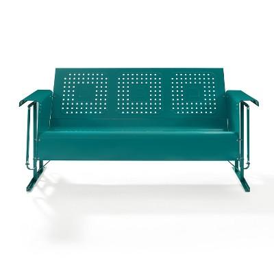 Bates Outdoor Metal Sofa Glider Turquoise   Crosley : Target