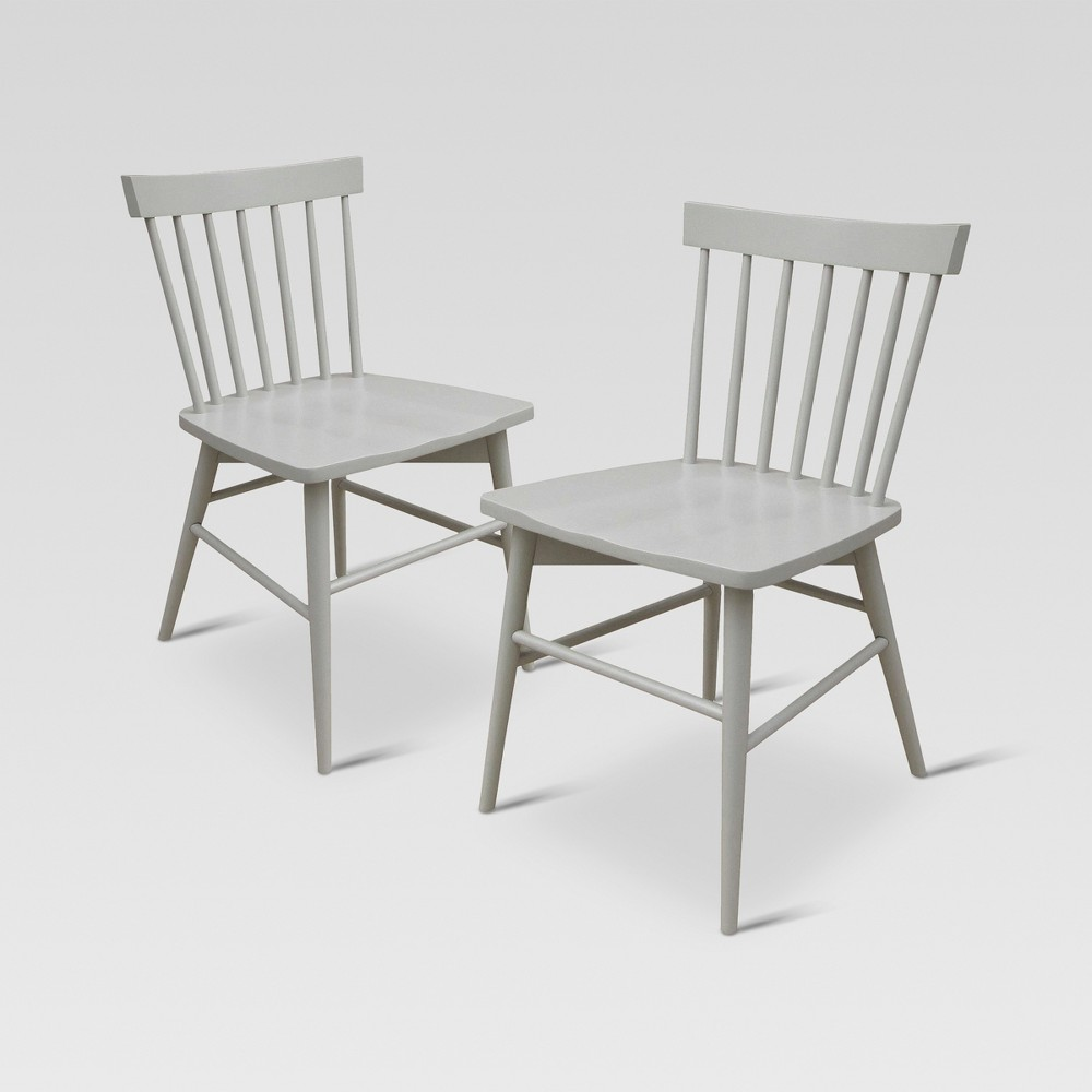 Windsor Dining Chair - Gray (Set of 2) - Threshold