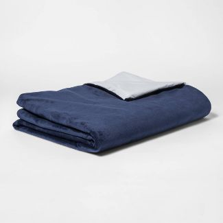 "40""x60"" 6lbs Waterproof Removable Cover Weighted Blanket Blue - Pillowfort™"