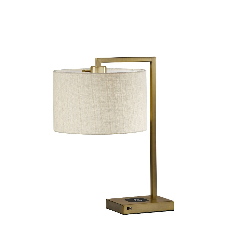 21 25 34 Austin Adessocharge Table Lamp Brass Adesso