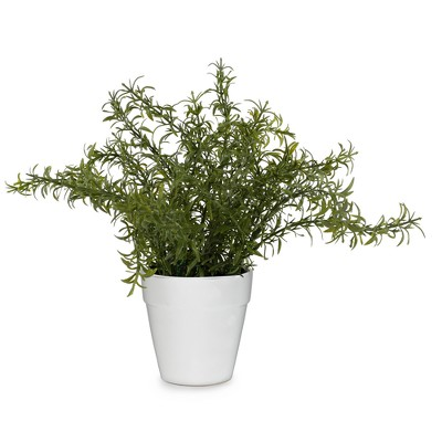 Artificial Rosemary Arrangement in Ceramic Pot Green 9  - Lloyd & Hannah