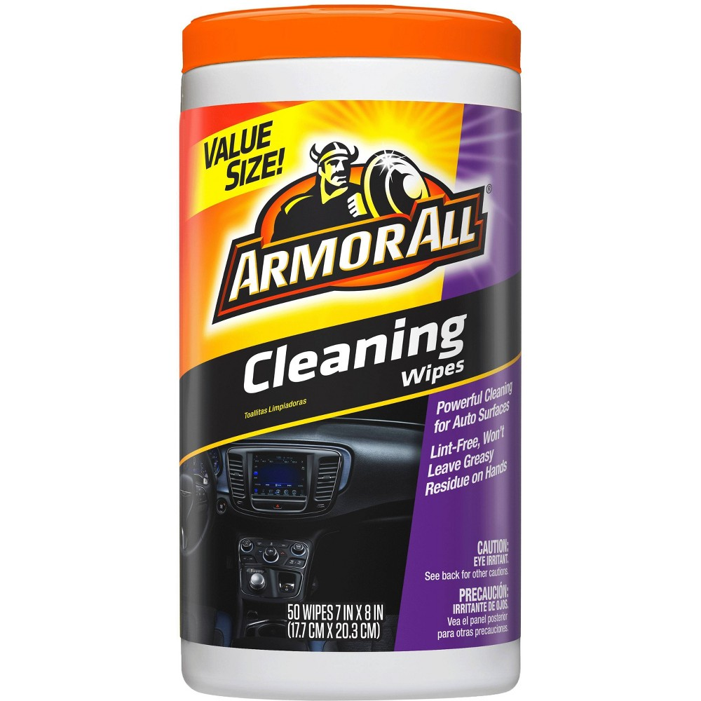 Armor All 50c Cleaning Wipes Automotive Interior Cleaner